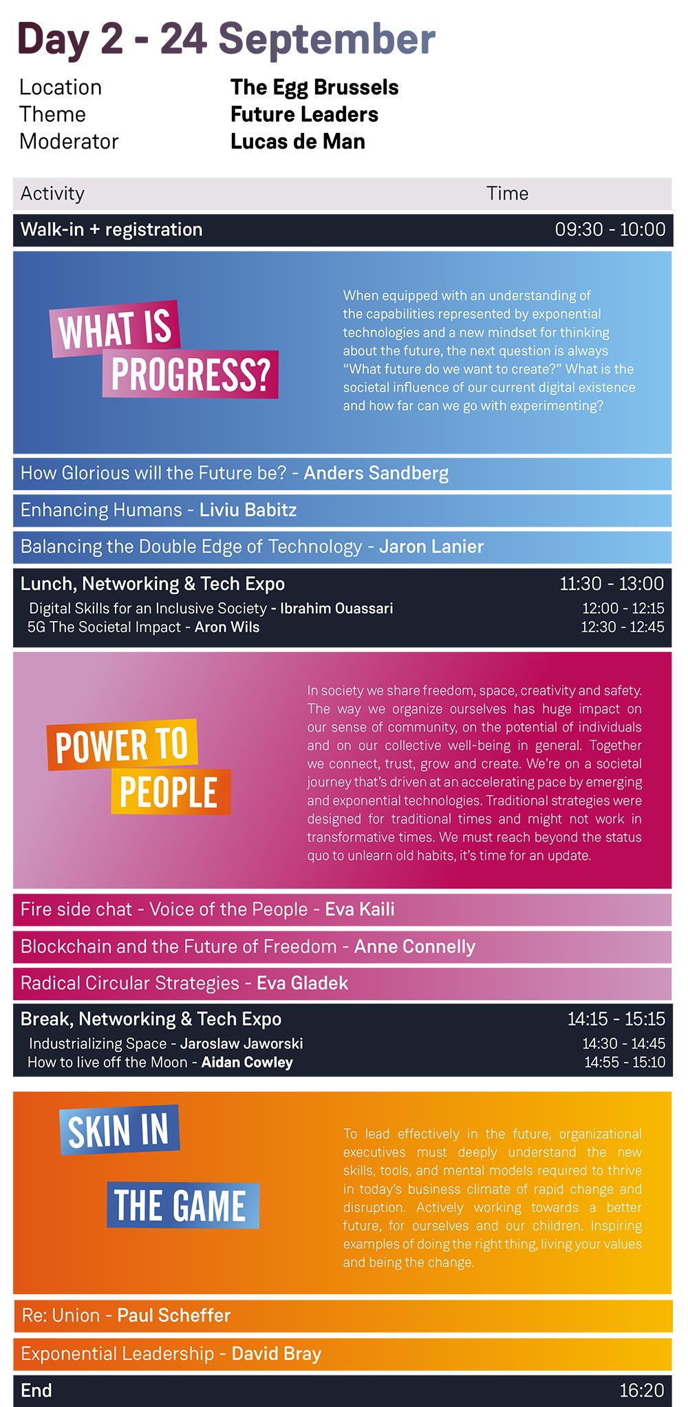 Timetable SU Brussels Summit 2019 + side program